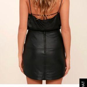 1f4d9941ee Gentle Fawn Skirts - 🖤 Gentle Fawn black vegan leather Maze Mini Skirt